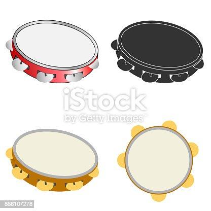 istock Tambourine icon 866107278