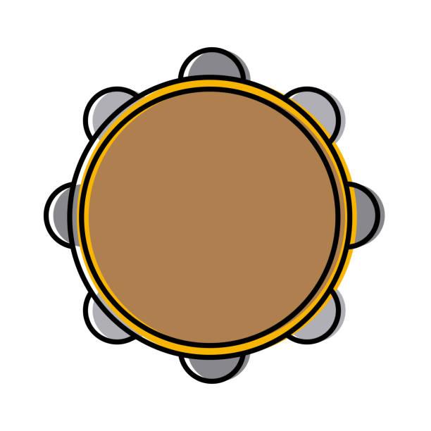 stockillustraties, clipart, cartoons en iconen met tamboerijn muziekinstrument - tamboerijn