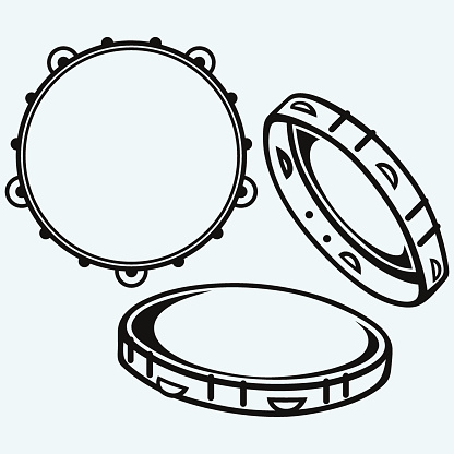 Tambourine with nobody holding
