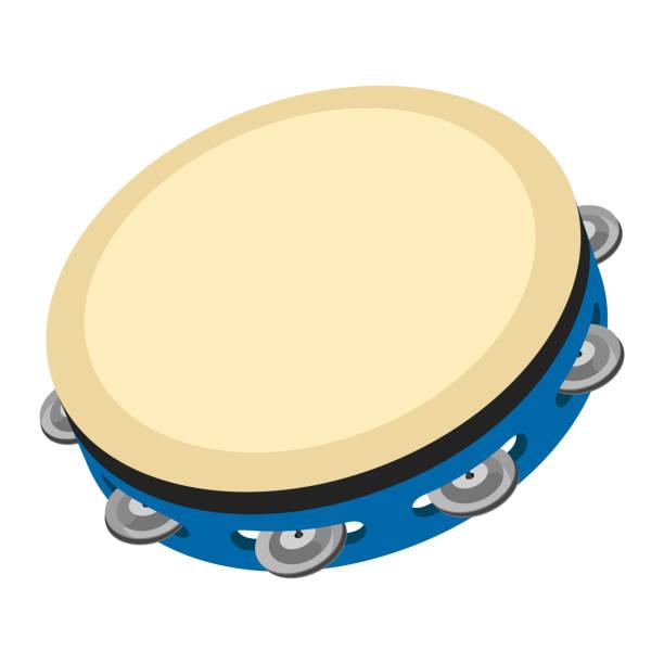 stockillustraties, clipart, cartoons en iconen met tamburin - tamboerijn