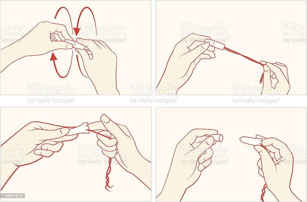 Tampon technical explanation vector art illustration