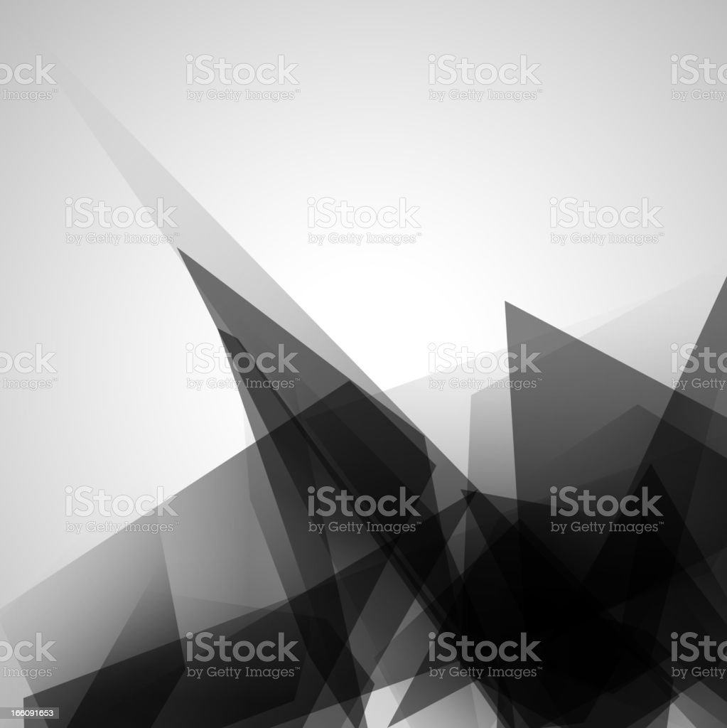 A tan and brown abstract compilation of triangles vector art illustration