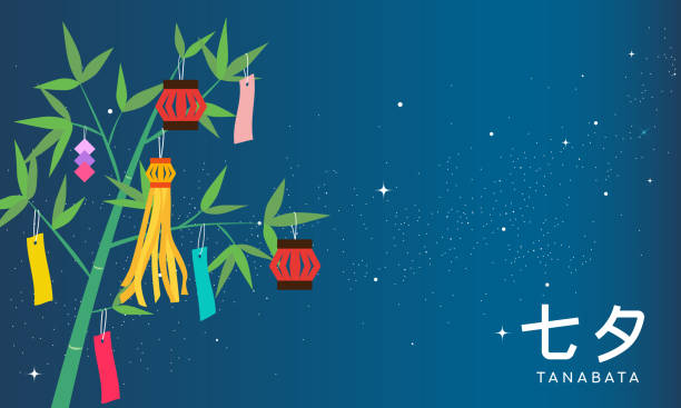 七夕や星祭バナーのベクトル図です。竹ツリー天の川の背景に装飾。日本語では、「七夕」を書き込まれます。 - 七夕点のイラスト素材/クリップアート素材/マンガ素材/アイコン素材