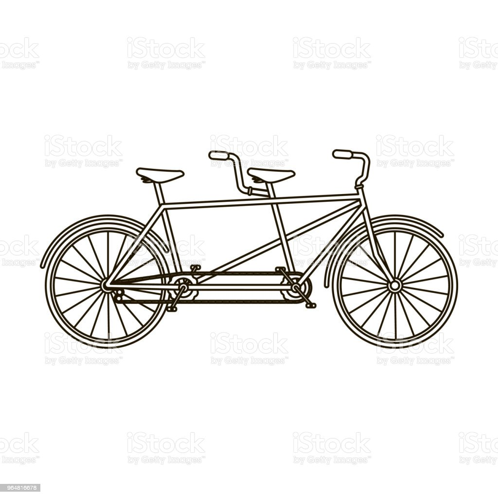 Tandem bike.Pleasure bicycle for two. Double bicycle. The ecological mode of transport.Different Bicycle single icon in outline style vector symbol stock web illustration. royalty-free tandem bikepleasure bicycle for two double bicycle the ecological mode of transportdifferent bicycle single icon in outline style vector symbol stock web illustration stock vector art & more images of abstract