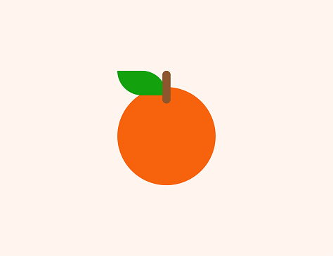 Tangerine vector icon. Isolated Orange tropical fruit flat colored symbol - Vector