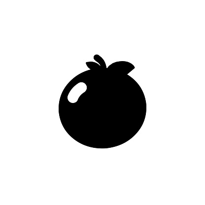 Tangerine vector icon. Isolated Orange Tropical Fruit flat emoji, emoticon symbol - Vector