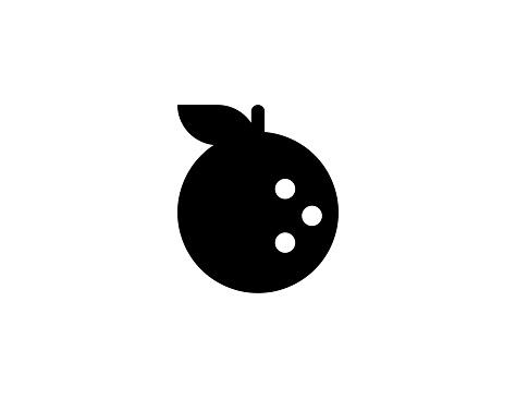 Tangerine vector icon. Isolated Orange tropical fruit flat symbol