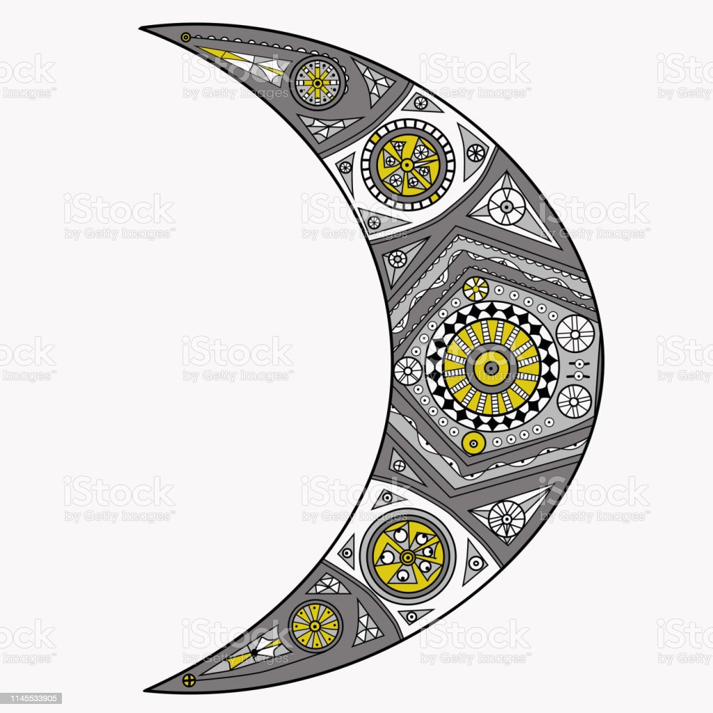 tangle crescent moon vector stock illustration download image now istock tangle crescent moon vector stock illustration download image now istock