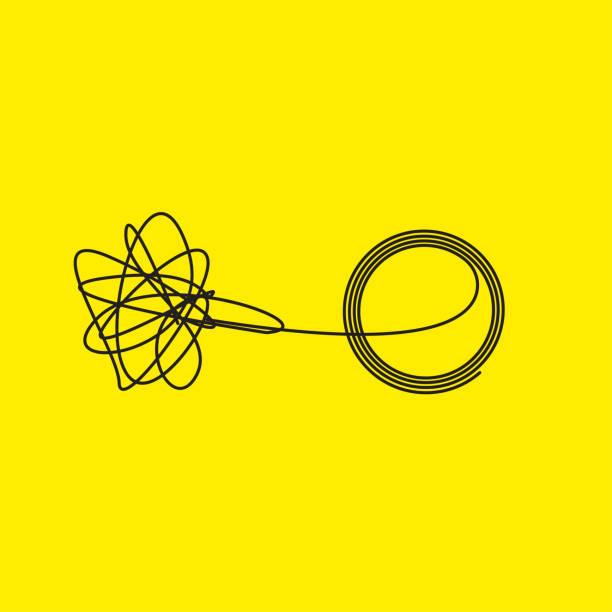 knäuel verstrickt und entwirrt - kasachstan stock-grafiken, -clipart, -cartoons und -symbole