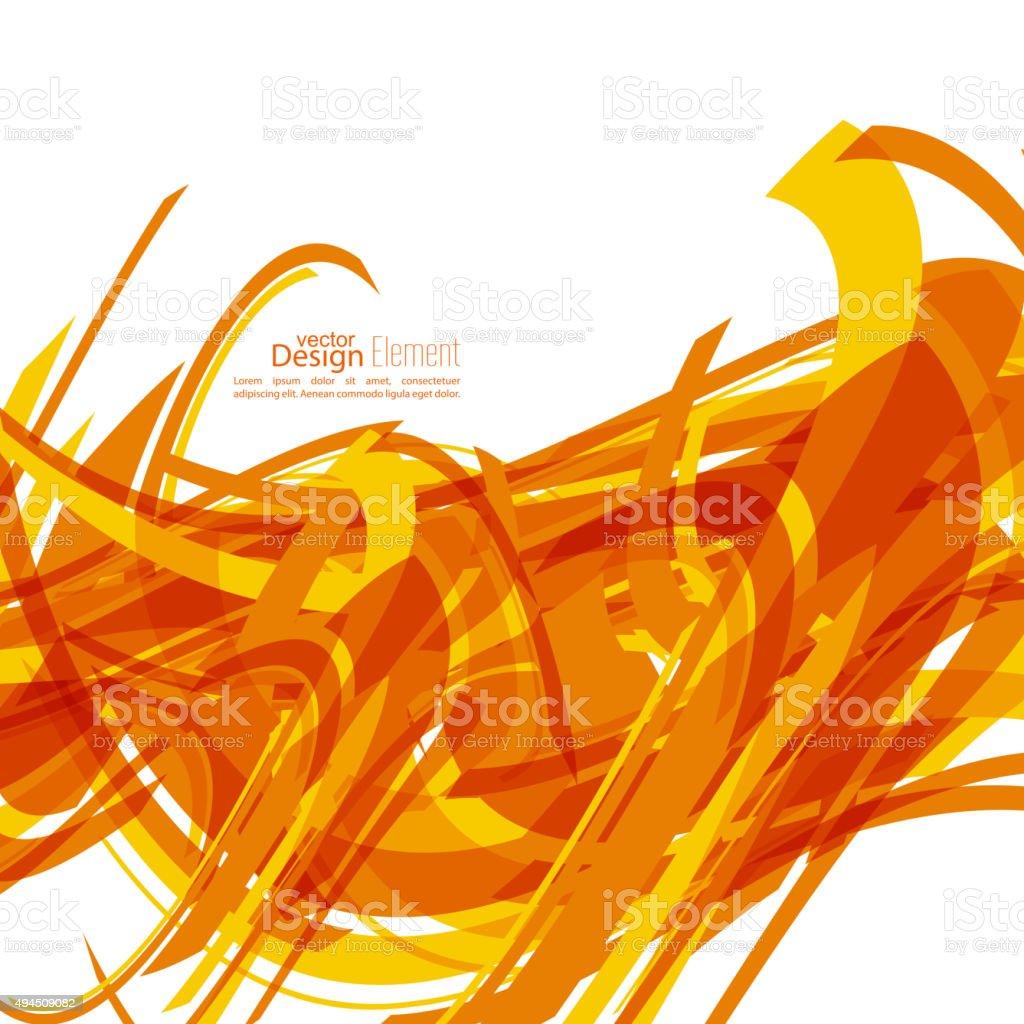 Tangled geometric stripes vector art illustration