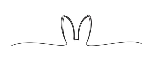 verwickeltes graues schwarzes herz kritzelt - kaninchen stock-grafiken, -clipart, -cartoons und -symbole