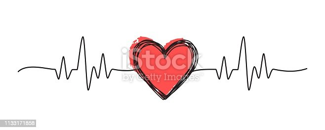 Tangled grungy heart scribble hand drawn with thin line, divider shape. Isolated on white background. Vector illustration
