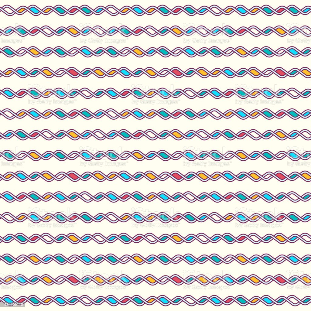 Tangled Knitted Pattern vector art illustration