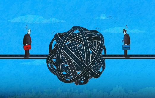Tangled Knot-Businessmen