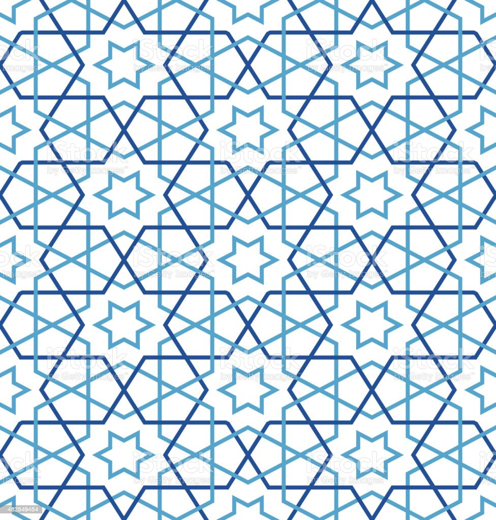 Tangled Pattern based on traditional arabic vector art illustration