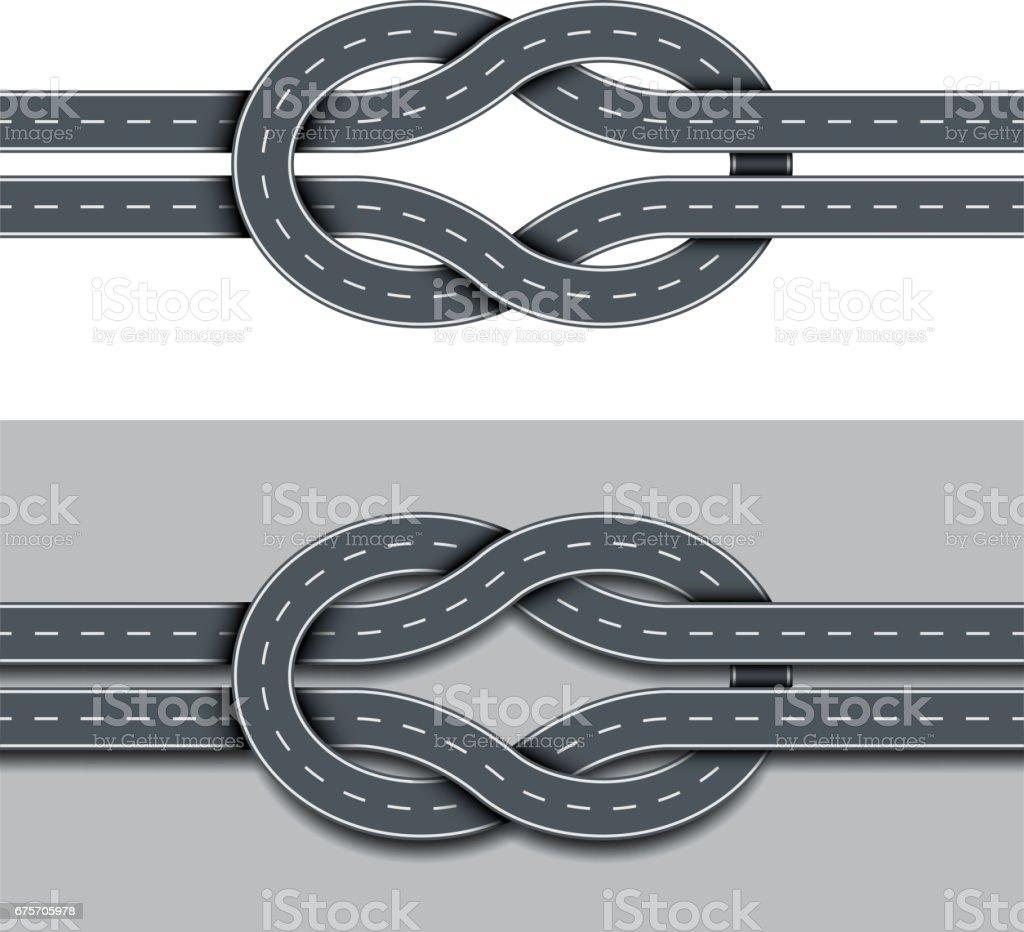 糾纏路由隔離向量 免版稅 糾纏路由隔離向量 向量插圖及更多 交通 圖片