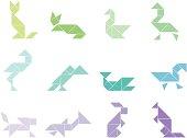 Tangram Animal Set