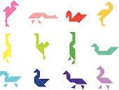 Tangram Birds Set   001