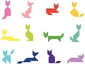 Tangram Cat Set    1 of 3