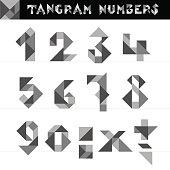 Tangram Numbers Vector