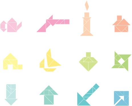 Tangram Object Set