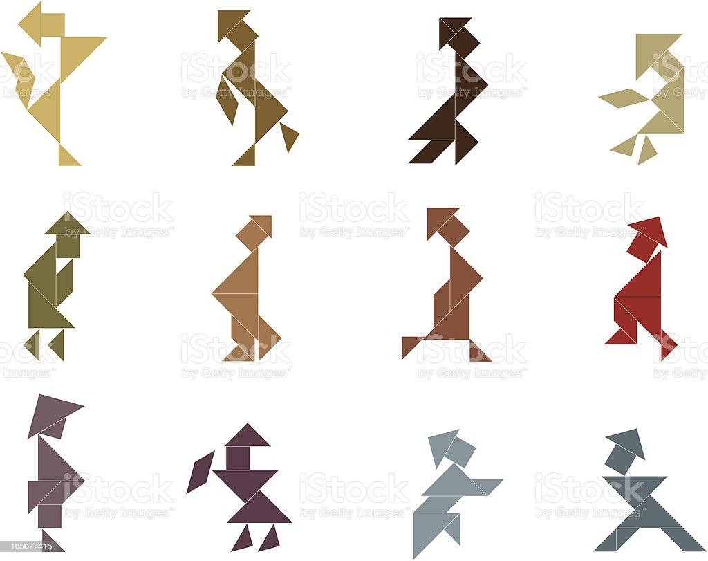 Tangram People with Hat Icon royalty-free tangram people with hat icon stock vector art & more images of abstract