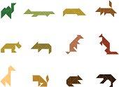 Tangram Wild Animal Set