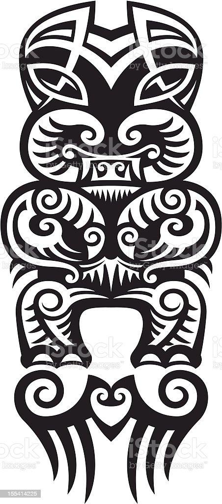 Taniwha tattoo design royalty-free stock vector art