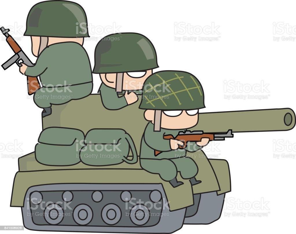 タンクおよび軍隊 アメリカ合衆国のベクターアート素材や画像を多数ご