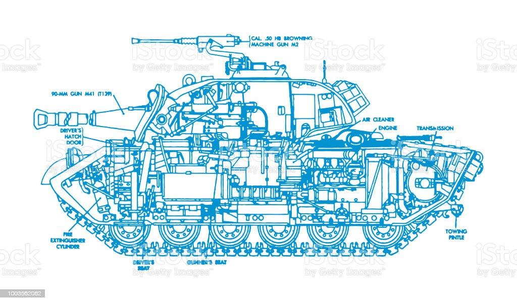 tank diagram royalty-free tank diagram stock illustration - download image  now
