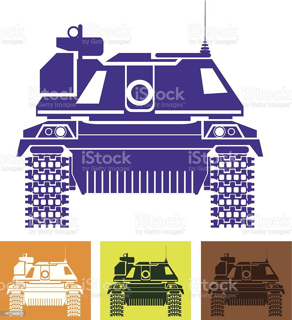 Tank front royalty-free stock vector art