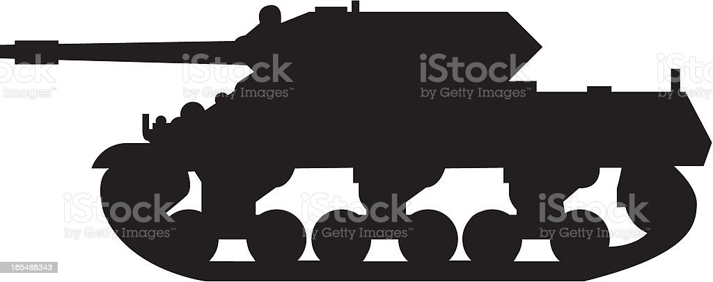 Tank Silhouette royalty-free tank silhouette stock vector art & more images of armored tank