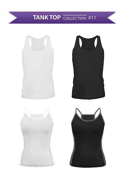 Tank top collection Tank top collection isolated on white background, vector eps10 illustration tank top stock illustrations