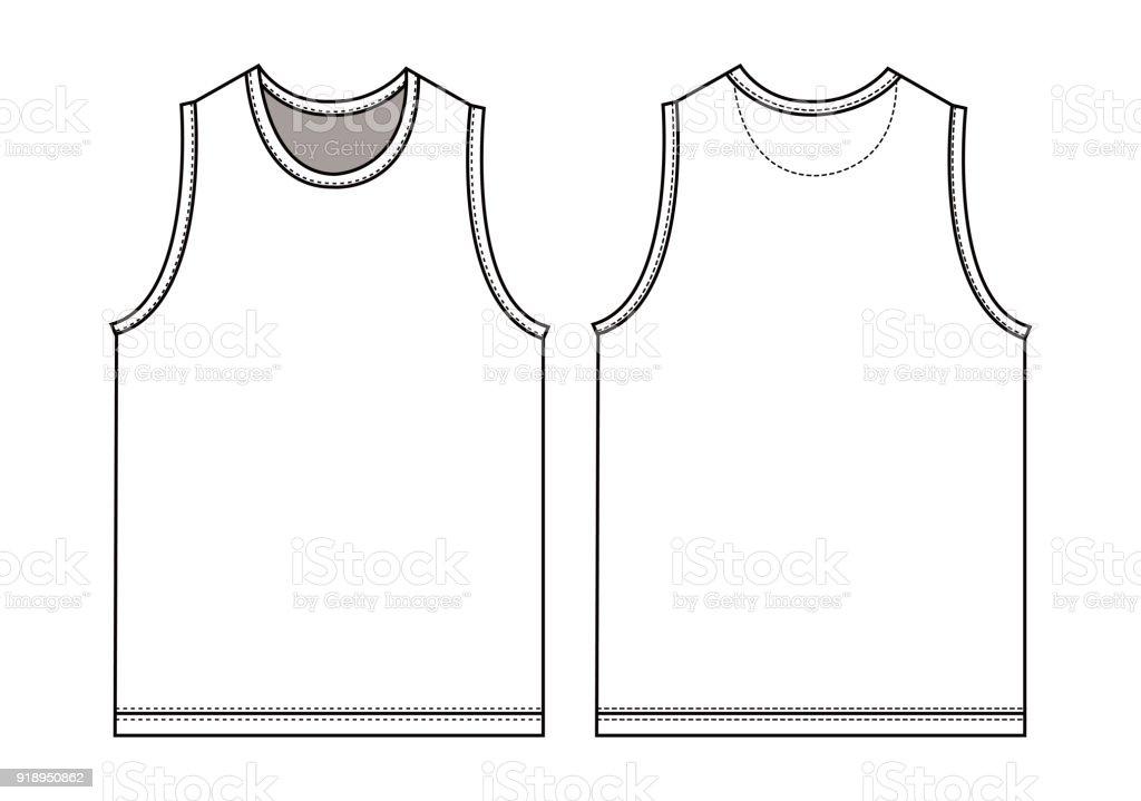 Ilustración de Tapa Del Tanque Ilustración De La Camiseta Sin Mangas ...