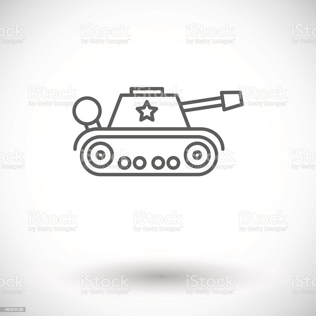 Tank toy vector art illustration