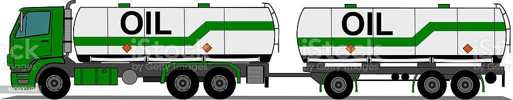 Tank truck royalty-free stock vector art