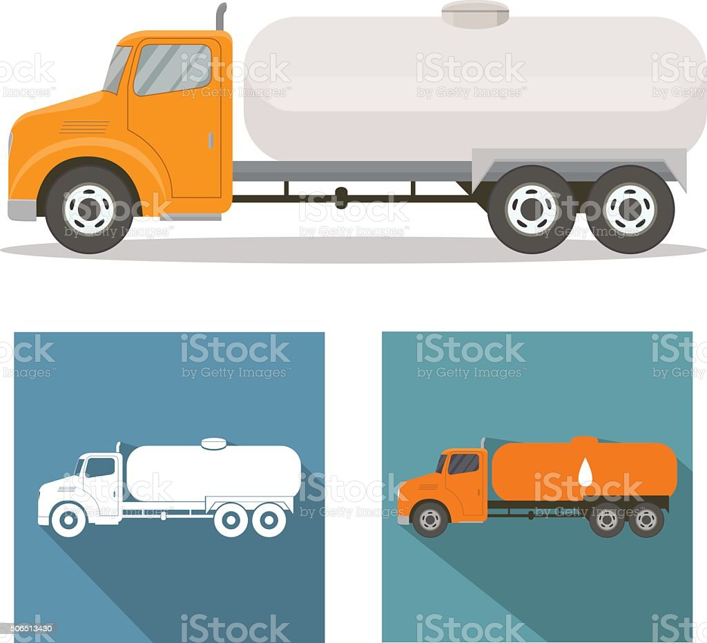 Tank truck vector art illustration