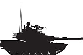 Tank with Gunner Silhouette