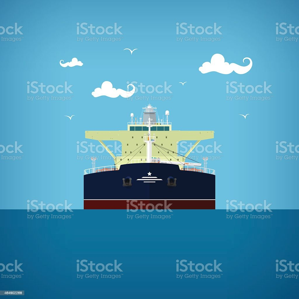 Tanker , front view of a tanker vector art illustration