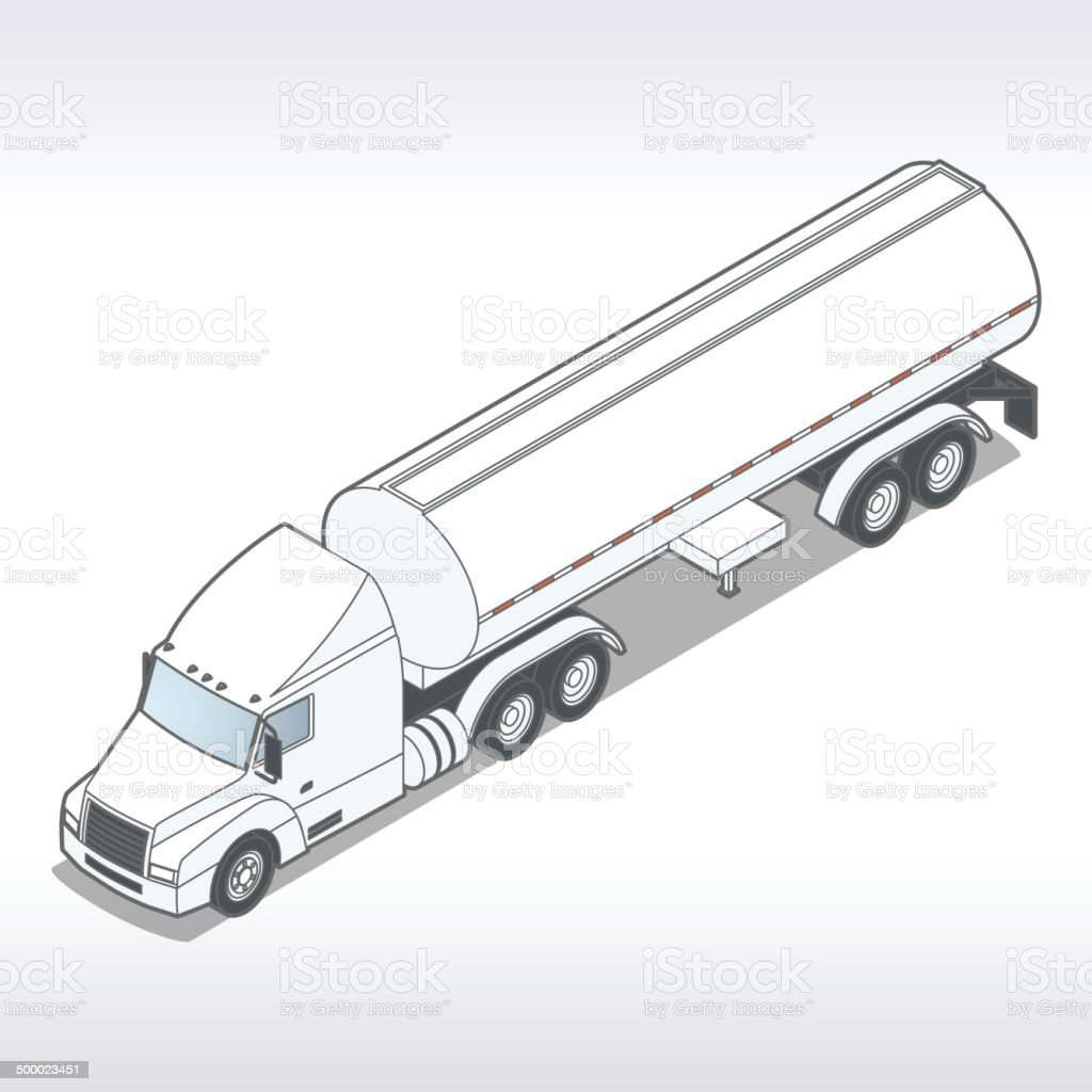 Tanker Truck Illustration vector art illustration