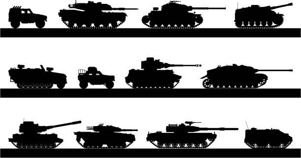Tanks vector art illustration