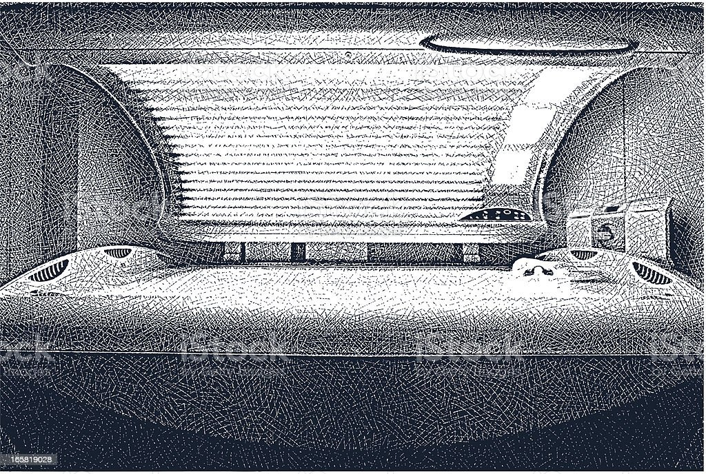 Tanning Bed royalty-free stock vector art