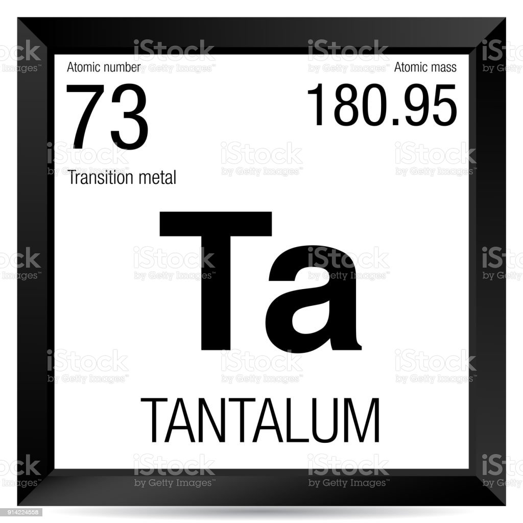 Tantalum Symbol Element Number 73 Of The Periodic Table Of The