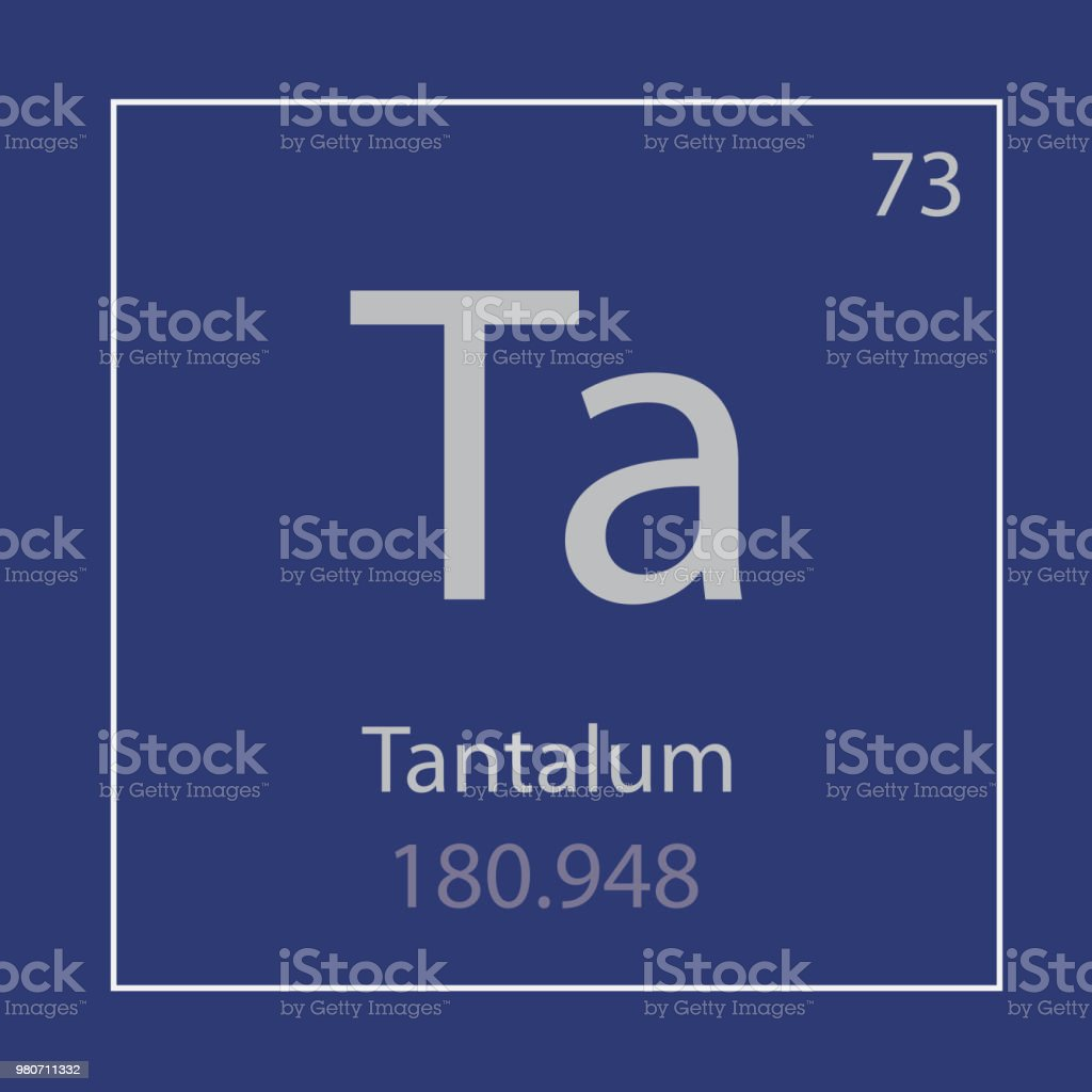 Tantalum Ta Chemical Element Icon Stock Vector Art More Images Of