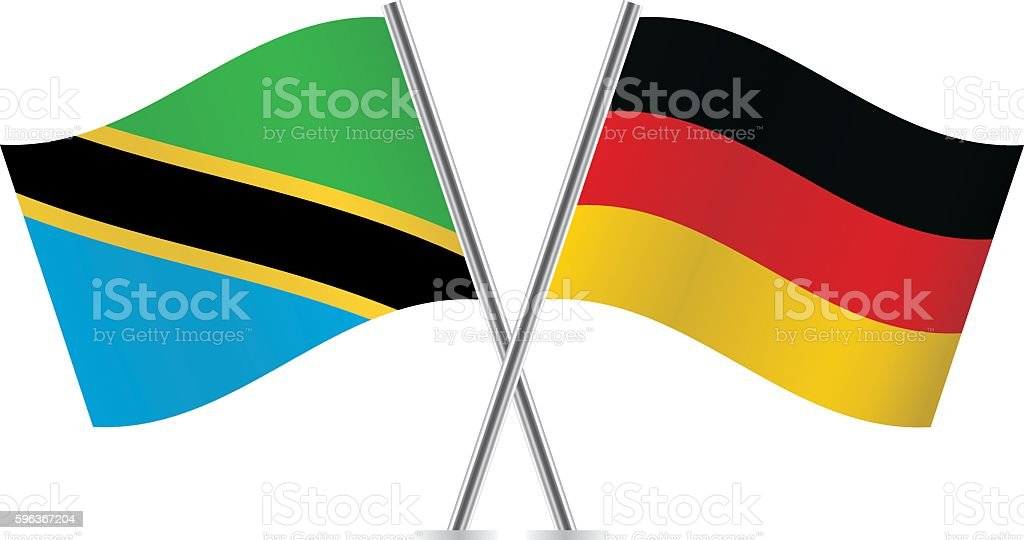 tanzania and german flags vector stock vector art more images of