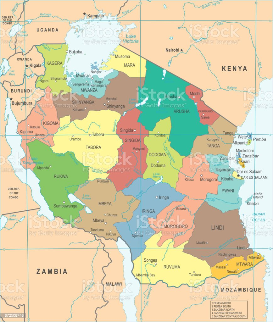 Tanzania map detailed vector illustration stock vector art more globe navigational equipment map navigational equipment world map africa tanzania gumiabroncs Choice Image