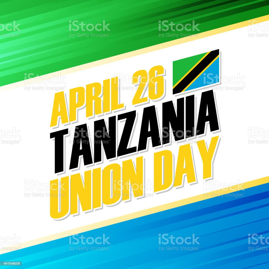 Tanzania union day april 26 national holiday greeting card stock tanzania union day april 26 national holiday greeting card royalty free tanzania union m4hsunfo