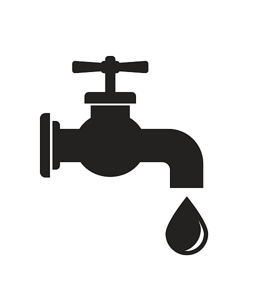 tap faucet icon - tap water stock illustrations