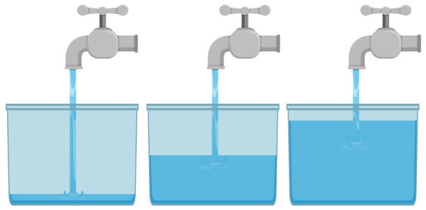musluk suyu kovalar - tap water stock illustrations