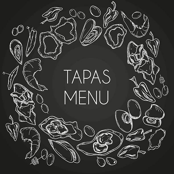 タパス料理 - スペイン料理点のイラスト素材/クリップアート素材/マンガ素材/アイコン素材